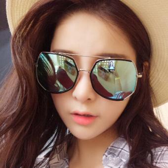 Kacamata Hitam Wanita Warna Warni Bentuk Bulat Gaya Retro Gaya Korea