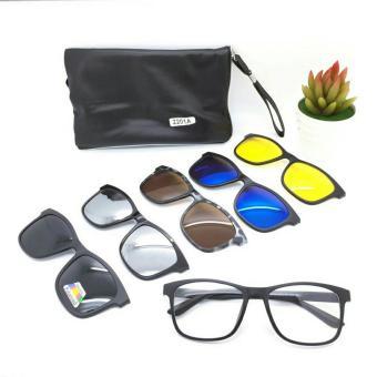 Fitur Magnetic Sunglasses Eyeglasses Glasses Holder Magnet Kacamata ... 52c6595146