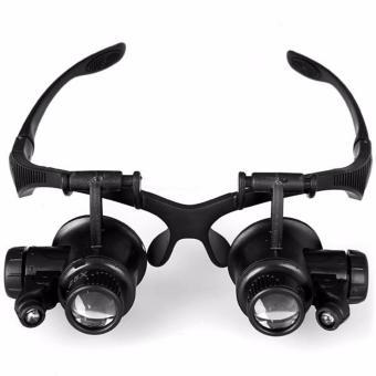 Kacamata Pembesar 25x Magnifier Glasses dengan 2 LED