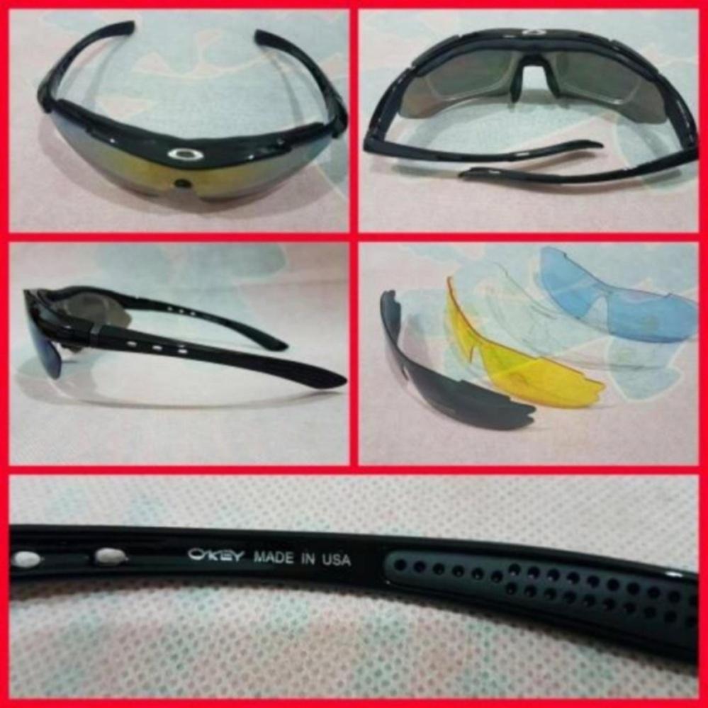 Kacamata Sepeda 5 Lensa Polarized Men Super Sport Quantum .