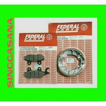 KAMPAS REM DEPAN-BELAKANG SUPRA X 125 D/ FEDERAL PARTS