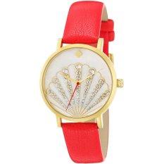 Kate Spade Jam Tangan Wanita - Merah - Kulit - 1YRU0760