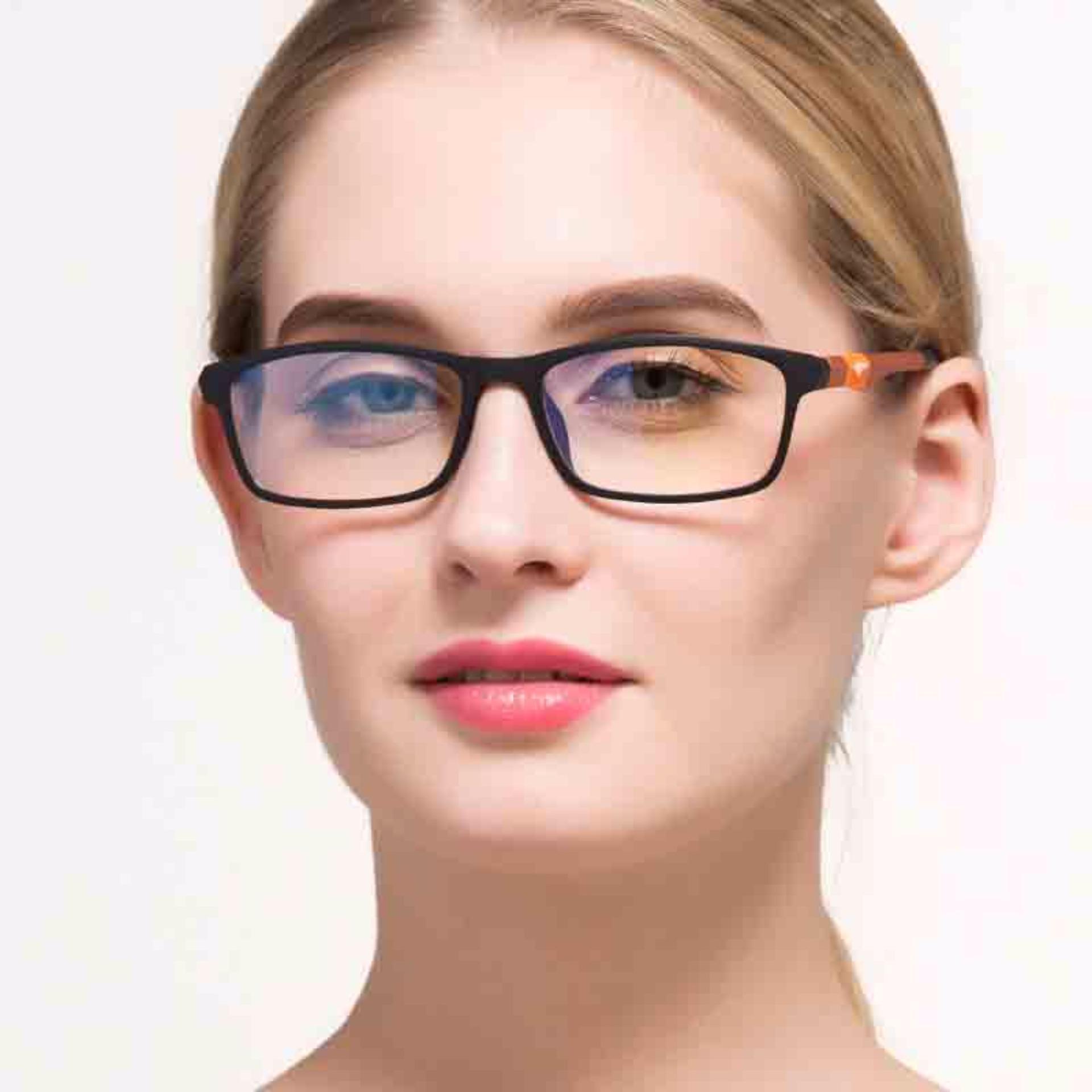 ... KATELUO 2017 New Brand Reading Glasses Men Woman Computer UVGlassesFatigue Radiation eyeglasses Myopia Frame Black WhiteBule13022 ...