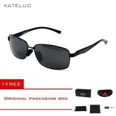 KATELUO Magnesium aluminium paduan kacamata hitam pria pengemudi kacamata cermin lensa terpolarisasi Male memancing olahraga luar