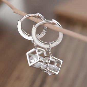 telinga Source · Kecantikan manis style anting kristal sintetis anting anting perak .