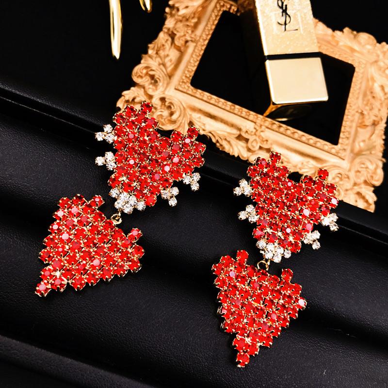 Kepribadian Flash berlian style Hong batu permata peach jantung liontin