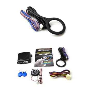 Keyless Entry Car RFID Engine Push Stop Start Button Lock IgnitionStarter Alarm - intl