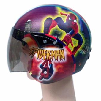 KiosStore Helm Anak Retro Lucu Standart Usia 2-6 thn motif Spedermen