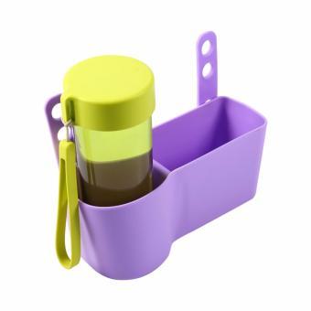 Klikoto Car Organizer Drink Holder Back Seat Hanger / Tempat Penyimpanan Minuman Mobil Multifungsi - Ungu