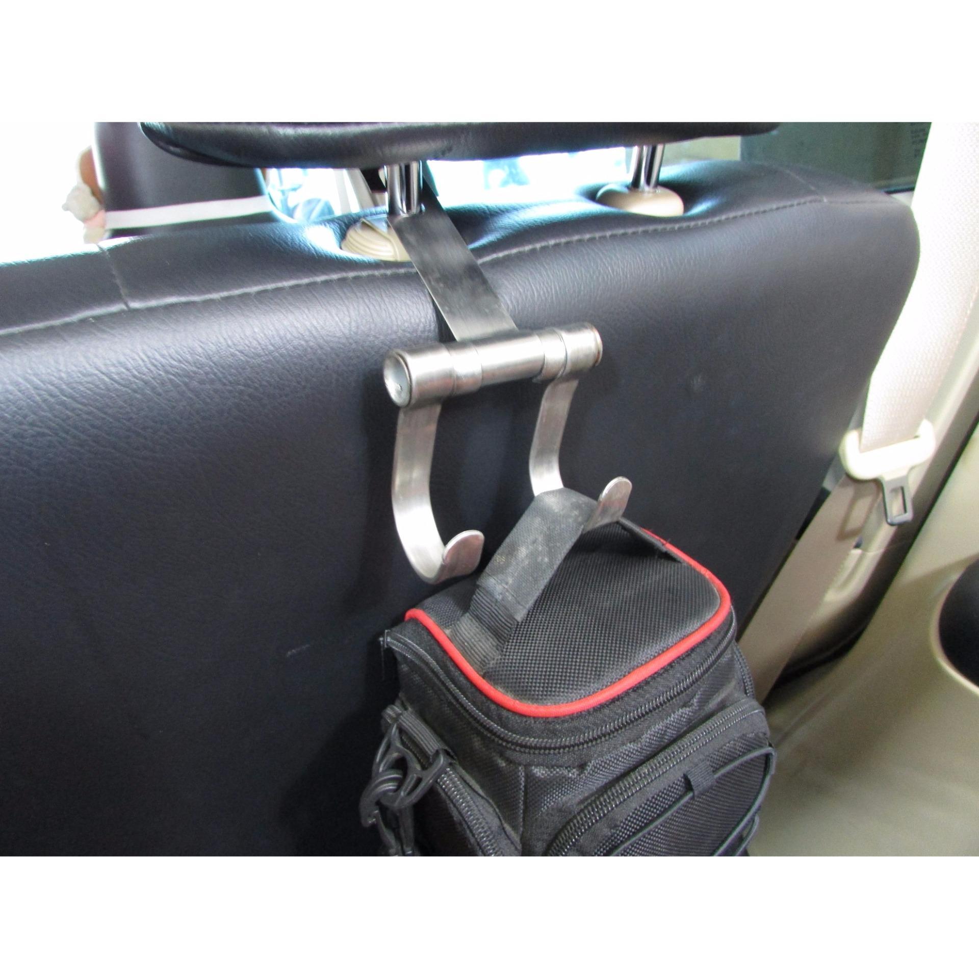 Lanjarjaya New Stainless Steel Car Hanger Aksesoris Gantungan kursijok di Mobil .