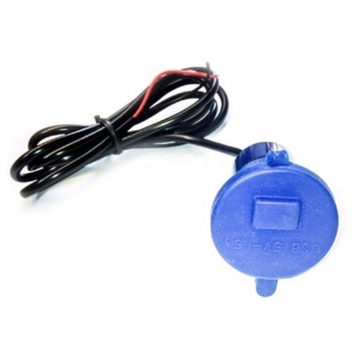 Lanjarjaya USB Charger Motor Waterproof Cas HP di motor - Biru