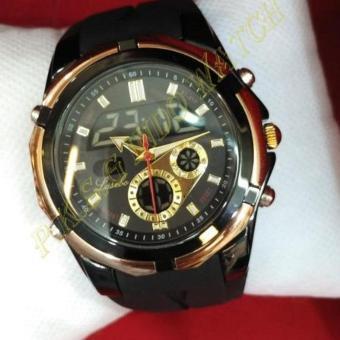 Lasebo - Dual Time - Jam Tangan Sport Pria - Rubber Strap -LSB 6841