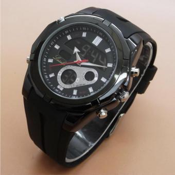 Lasebo original LSB-809 rubber fitur tanggal hari bulan stopwatch arlarm bisa di bawa berenang