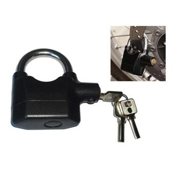 LBGS - kunci gembok cakram Ban motor gembok Alarm padlock getar Ring Pendek