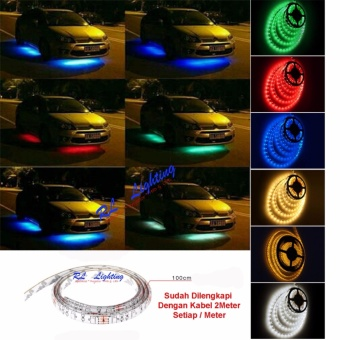Led Lampu Kolong Outdor Mobil Waterproof 100cm - Merah