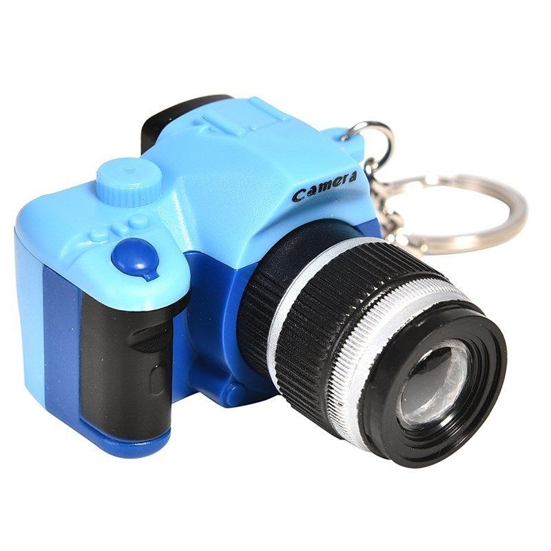 ... LED Sound Simulation Camera Keychains Flashlight Keys Decoration Key Rings Blue - intl ...