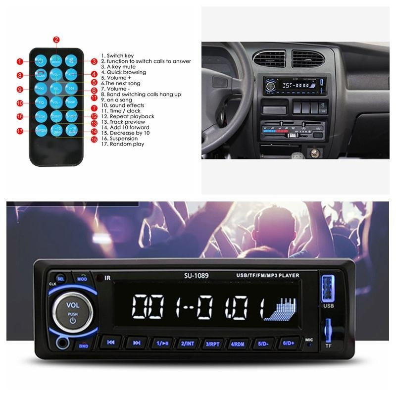 leegoal Car Stereo, Single-Din Version, Bluetooth In Dash, Remote Control,