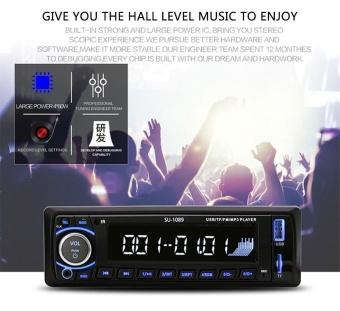 harga leegoal Car Stereo, Single-Din Version, Bluetooth In Dash, Remote Control, Digital Media Receivers, USB/SD/Audio Receiver/MP3 Player/FM Radio - intl Lazada.co.id