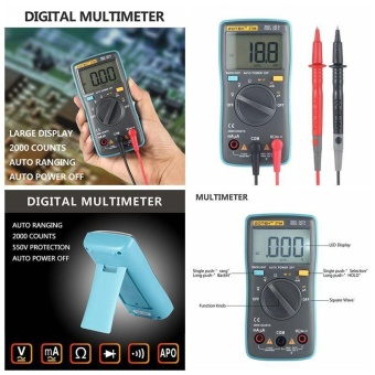 harga leegoal Digital Multimeter, Auto Ranging Pocket Digital Multimeter Digital Multi Tester - AC DC Voltage DC Current Resistance Diodes Capacitance Transistor Backlit LCD Measuring Instrument (ZT98) - intl Lazada.co.id
