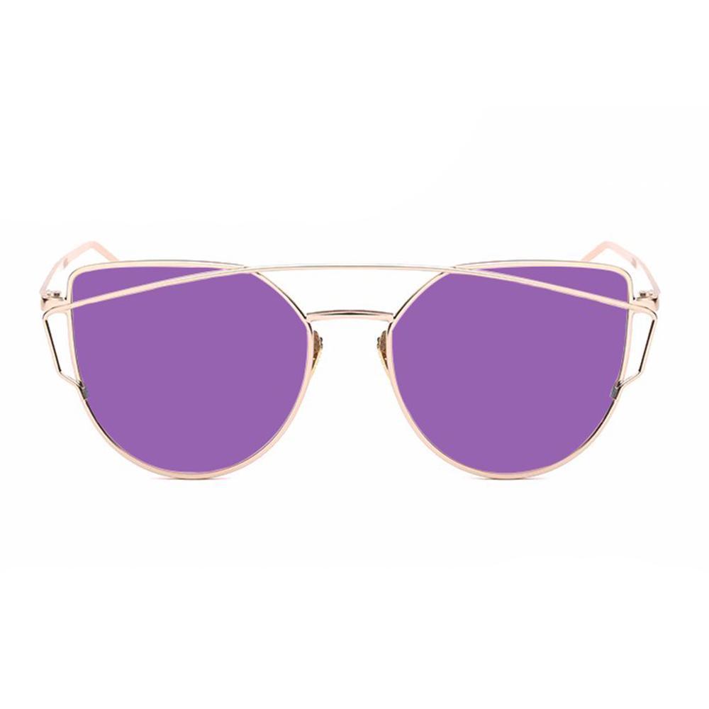 leegoal Fashion Women Sunglasses Sunscreen Anti-UV Color Film Sunglasses ,Gold .