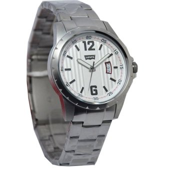 Levis Jam Tangan Pria - Strap Stainless Steel - Silver - LVS558CH