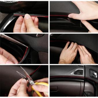 Lis Dekorasi Interior Mobil Moulding Trim - RED - 3