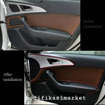 Lis Dekorasi Interior Mobil Moulding Trim - RED - 2