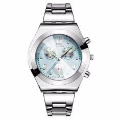 LONGBO Jam Tangan Wanita Luxury Fashion Casual Stainless Steel Quartz Analog Women Lady Watch - Blue