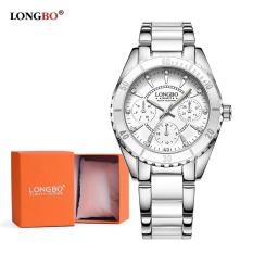 LONGBO Keramik Watchband Anolog Wanita Watch Jam Tangan 80303L + Watch Gift Box
