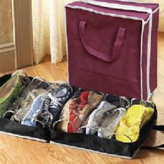 Lucky Shoes Tote Bag Tempat Sepatu Travel Storage Organizer - 1 Pcs