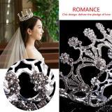 Detail Gambar Rhinestones Mewah Bunga Pengantin Mahkota Tiara Pernikahan Pengantin Rambut Bulang Hadiah Terbaru