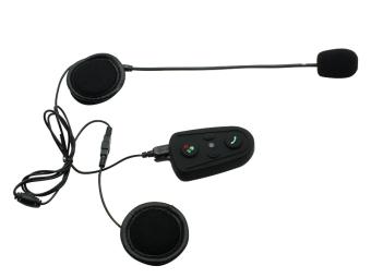 M508 interfon Bluetooth sepeda motor helm interkom dengan HeadsetRadio FM dan musik fungsi (hitam)