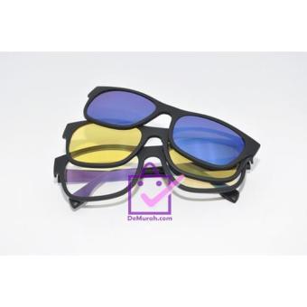 Kacamata Tiga Lensa Ask Vision 3 In 1 Kacamata Magnet Magic Hd ... a53fb3e0e7
