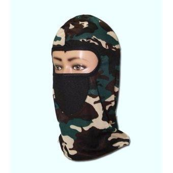 Masker Motor Full Face Ninja Corak Army