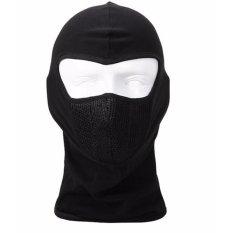 Masker Motor Full Face Ninja Polos Hitam