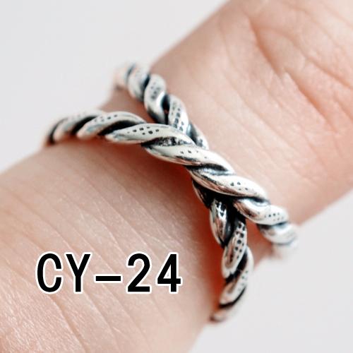 Masuknya orang S925 Jepang dan Korea Selatan wanita cincin pembukaan cincin jari telunjuk cincin