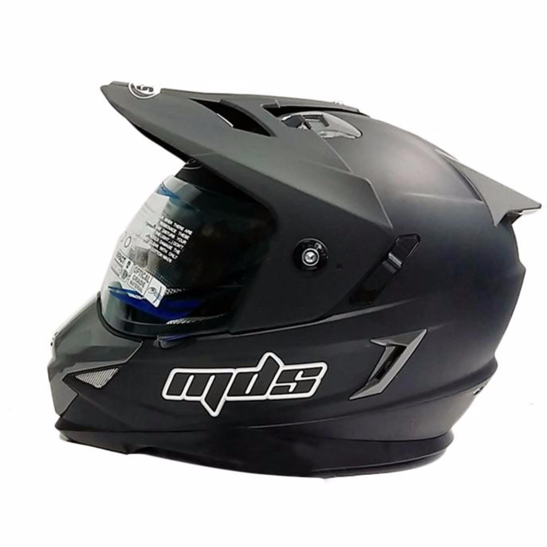 Honda Helm Full Face Cbr 125150 Black Doff Daftar Snail Mx309 Motocross Motif Skull Hitam Kilap Mds Motor Cross Super Pro Supermoto Double Visor Yamaha