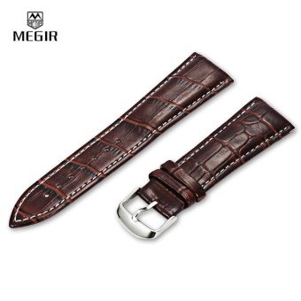 MEGIR 24MM PU Watch Band Pin Buckle Wristband - intl