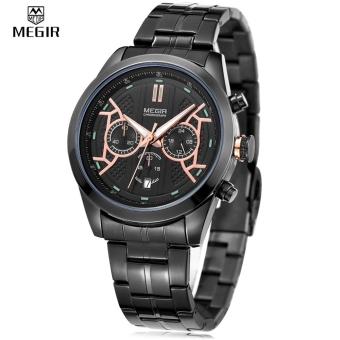 MEGIR 3016 Male jam kuarsa Chronograph 24 jam tampilan bercahaya tanggal jam tangan - International