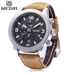 MEGIR M2026 Men Quartz Watch Working Sub-dial Luminous Date Display Wristwatch - intl
