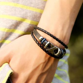 Men's Handmade Metal Beaded Bracelets - intl
