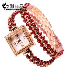 Merah anggur tahan air lap dan lebih lap gelang gelang jam tangan