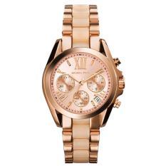 Michael Kors MK6066 36mm Jam Tangan Wanita Bradshaw Mini Chronograph Women Ladies Watch - Rose Gold