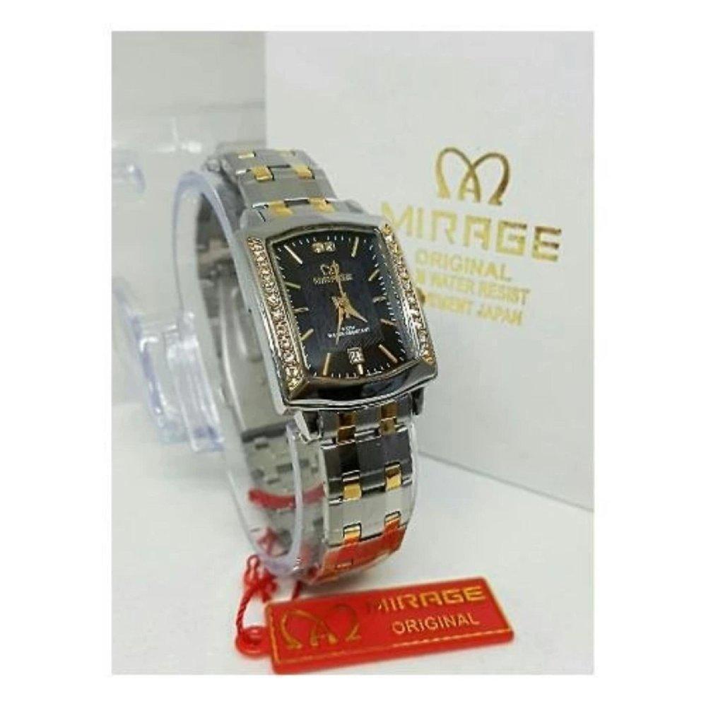 Mirage Date Jam Tangan Wanita Stainless Steel Mrg 710 Black Gold Original Bonia B10137 1213 Pria Strap Mtg 52655ar