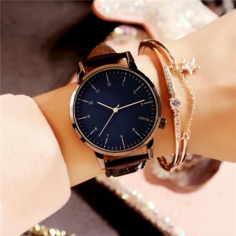 Mode tahan air baru kalender bentuk perempuan menonton wanita jam tangan