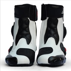 Motorcycle shoes Motorcycle boots (white size 43) - intl