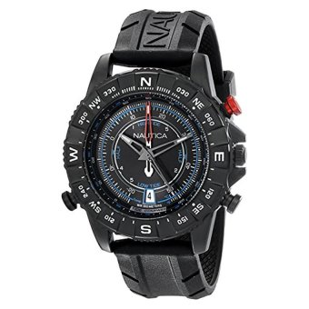 Nautica Men's NAD21001G NSR 103 TIDE TEMP COMPASS Watch with Black Band (Intl)