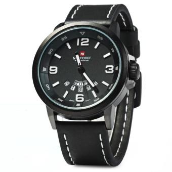 NAVIFORCE NF9028 Men Quartz Watch Analog Wristwatch Date Watches PU Strap - intl