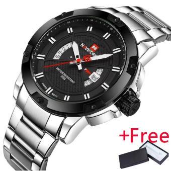 NAVIFORCE Top Luxury Brand Men Sports Watch Jam Tangan Male Casual Full steel Date WristWatch Jam Tangan es Men's Quartz Watch Jam Tangan es