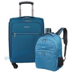 Navy Club Koper Cabin - 4 Roda Putar 3837-18 inch + Navy Club Tas Ransel Laptop Tidak Tembus Air 5902 - Blue